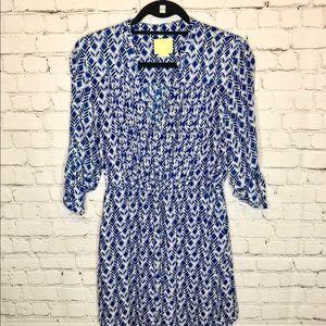Anthropologie Dresses - Mauve Aztec Pattern Dress